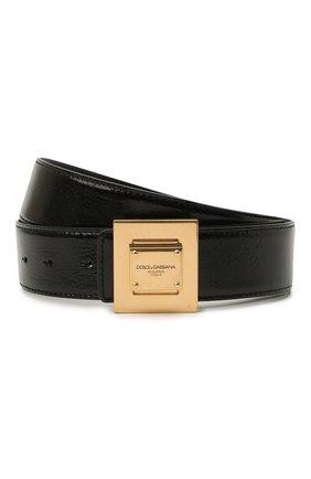 Мужской кожаный ремень DOLCE & GABBANA черного цвета, арт. BC4618/A0821 | Фото 1 (Случай: Повседневный)