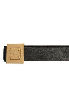 Мужской кожаный ремень DOLCE & GABBANA черного цвета, арт. BC4618/A0821 | Фото 2 (Случай: Повседневный)