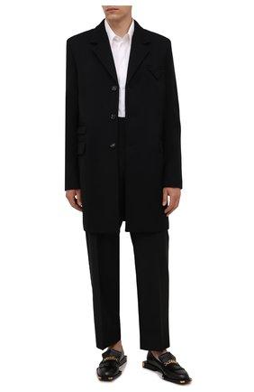 Мужские кожаные лоферы BALMAIN черного цвета, арт. WM1UQ271/LGDT | Фото 2 (Материал внутренний: Натуральная кожа; Стили: Классический)