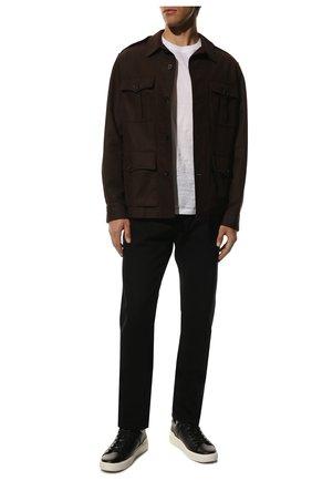 Мужские кожаные кеды b-court BALMAIN черного цвета, арт. WM1VI244/LSMM | Фото 2