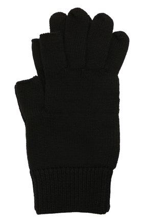 Мужские шерстяные перчатки RICK OWENS черного цвета, арт. RU02A5492/M | Фото 1