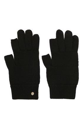 Мужские шерстяные перчатки RICK OWENS черного цвета, арт. RU02A5492/M | Фото 2