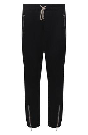 Мужские хлопковые джоггеры RICK OWENS черного цвета, арт. RU02A5370/TE | Фото 1
