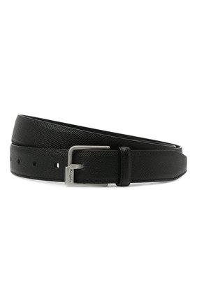 Мужской кожаный ремень MAISON MARGIELA черного цвета, арт. S55TP0112/P0399 | Фото 1 (Случай: Формальный)