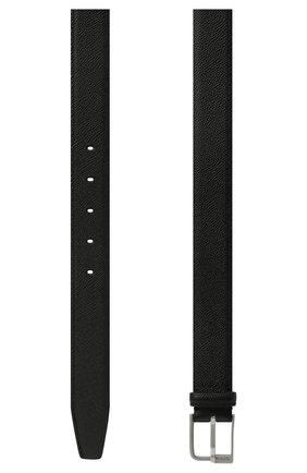 Мужской кожаный ремень MAISON MARGIELA черного цвета, арт. S55TP0112/P0399 | Фото 2 (Случай: Формальный)