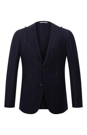 Мужской шерстяной пиджак ELEVENTY темно-синего цвета, арт. D70GIAA05 TES0D031 | Фото 1