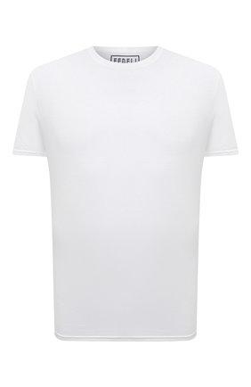 Мужская хлопковая футболка FEDELI белого цвета, арт. 4UEF0113 | Фото 1