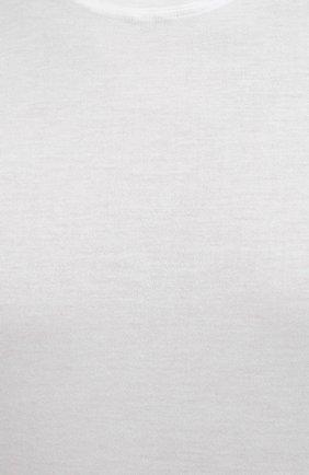 Мужская хлопковая футболка FEDELI белого цвета, арт. 4UEF0113 | Фото 5 (Принт: Без принта; Рукава: Короткие; Длина (для топов): Стандартные; Материал внешний: Хлопок; Стили: Кэжуэл)