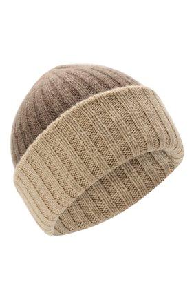 Мужская кашемировая шапка FEDELI темно-бежевого цвета, арт. 4UI07305   Фото 1