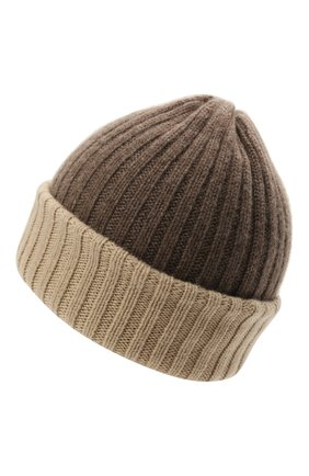 Мужская кашемировая шапка FEDELI темно-бежевого цвета, арт. 4UI07305   Фото 2