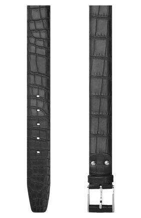Ремень из кожи крокодила со сменными пряжками | Фото №2
