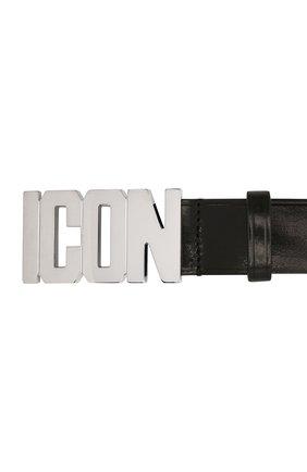 Мужской кожаный ремень DSQUARED2 черного цвета, арт. BEM0099 12904309 | Фото 2