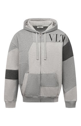 Мужской хлопковая толстовка VALENTINO светло-серого цвета, арт. WV3MF19E7CW | Фото 1