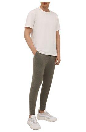 Мужские джоггеры из шерсти и кашемира RALPH LAUREN хаки цвета, арт. 790812536 | Фото 2 (Материал внешний: Шерсть; Силуэт М (брюки): Джоггеры; Мужское Кросс-КТ: Брюки-трикотаж; Кросс-КТ: Спорт; Стили: Спорт-шик; Длина (брюки, джинсы): Стандартные)