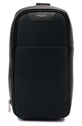 Мужской комбинированный рюкзак stepan SERAPIAN темно-синего цвета, арт. SRSTPMML713116A | Фото 1