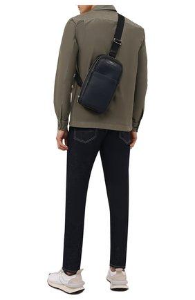 Мужской комбинированный рюкзак stepan SERAPIAN темно-синего цвета, арт. SRSTPMML713116A | Фото 2