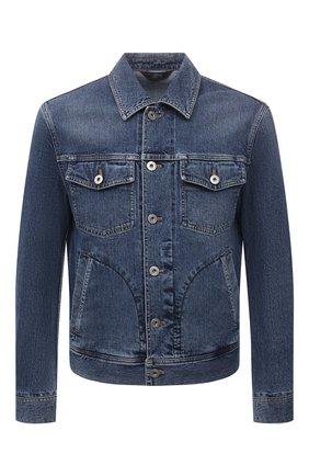 Мужская джинсовая куртка BRIONI синего цвета, арт. SLRR0L/01D05   Фото 1 (Материал внешний: Хлопок; Рукава: Длинные; Длина (верхняя одежда): Короткие; Кросс-КТ: Куртка, Деним; Стили: Кэжуэл)
