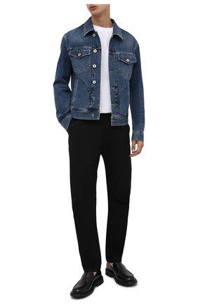 Мужская джинсовая куртка BRIONI синего цвета, арт. SLRR0L/01D05   Фото 2 (Материал внешний: Хлопок; Рукава: Длинные; Длина (верхняя одежда): Короткие; Кросс-КТ: Куртка, Деним; Стили: Кэжуэл)