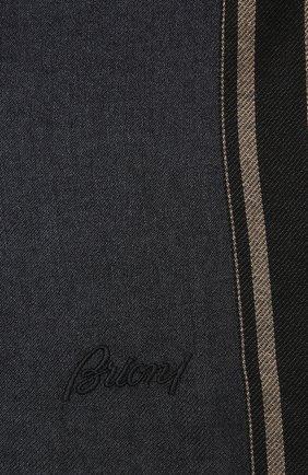 Мужской шарф из кашемира и шелка BRIONI темно-синего цвета, арт. 03UA00/P9356 | Фото 2