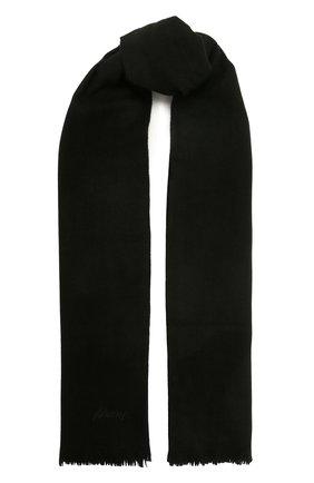 Мужской шерстяной шарф BRIONI черного цвета, арт. 03RC00/09AL9   Фото 1