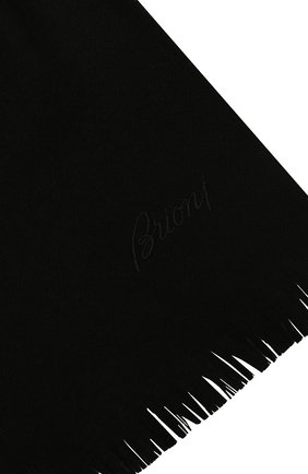 Мужской шерстяной шарф BRIONI черного цвета, арт. 03RC00/09AL9   Фото 2
