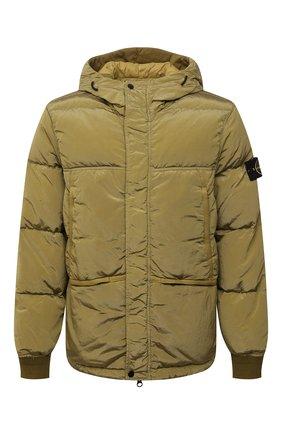 Мужская пуховая куртка STONE ISLAND хаки цвета, арт. 751544508 | Фото 1
