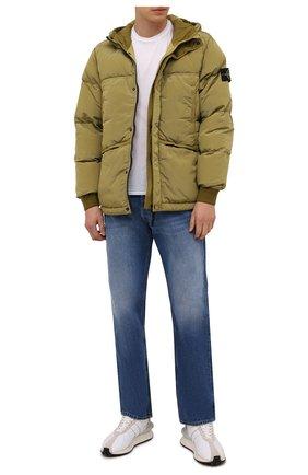 Мужская пуховая куртка STONE ISLAND хаки цвета, арт. 751544508 | Фото 2