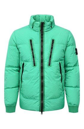 Мужская пуховая куртка STONE ISLAND зеленого цвета, арт. 751540223 | Фото 1