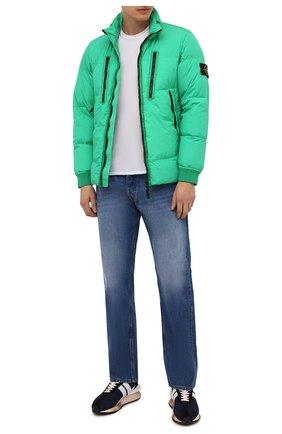 Мужская пуховая куртка STONE ISLAND зеленого цвета, арт. 751540223 | Фото 2