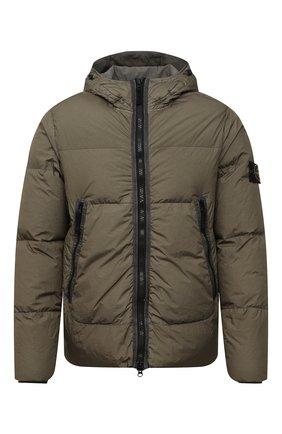 Мужская пуховая куртка STONE ISLAND хаки цвета, арт. 751540123 | Фото 1
