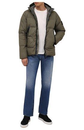 Мужская пуховая куртка STONE ISLAND хаки цвета, арт. 751540123 | Фото 2