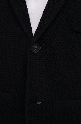 Мужской шерстяной пиджак EMPORIO ARMANI темно-синего цвета, арт. 6K1GY1/1MFDZ   Фото 5 (Материал внешний: Шерсть; Рукава: Длинные; Случай: Повседневный; Длина (для топов): Стандартные; Кросс-КТ: Трикотаж; 1-2-бортные: Однобортные; Пиджаки М: Прямой; Стили: Кэжуэл)