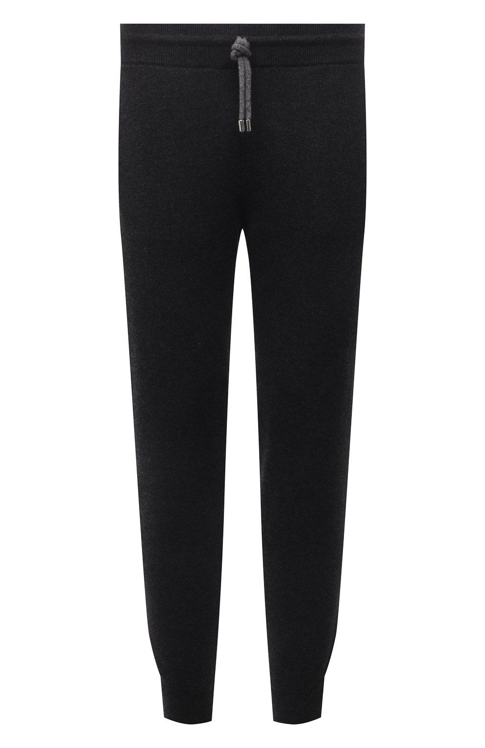Мужские кашемировые джоггеры FIORONI темно-серого цвета, арт. MK23019F1 | Фото 1 (Мужское Кросс-КТ: Брюки-трикотаж; Материал внешний: Шерсть, Кашемир; Длина (брюки, джинсы): Стандартные; Кросс-КТ: Спорт; Стили: Спорт-шик; Силуэт М (брюки): Джоггеры)