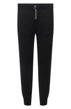 Мужские кашемировые джоггеры FIORONI темно-серого цвета, арт. MK23019F1 | Фото 1 (Длина (брюки, джинсы): Стандартные; Материал внешний: Кашемир, Шерсть; Силуэт М (брюки): Джоггеры; Мужское Кросс-КТ: Брюки-трикотаж; Кросс-КТ: Спорт; Стили: Спорт-шик)