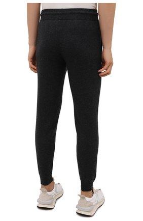 Мужские кашемировые джоггеры FIORONI темно-серого цвета, арт. MK23019F1 | Фото 4 (Мужское Кросс-КТ: Брюки-трикотаж; Материал внешний: Шерсть, Кашемир; Длина (брюки, джинсы): Стандартные; Кросс-КТ: Спорт; Стили: Спорт-шик; Силуэт М (брюки): Джоггеры)