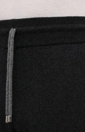 Мужские кашемировые джоггеры FIORONI темно-серого цвета, арт. MK23019F1 | Фото 5 (Мужское Кросс-КТ: Брюки-трикотаж; Материал внешний: Шерсть, Кашемир; Длина (брюки, джинсы): Стандартные; Кросс-КТ: Спорт; Стили: Спорт-шик; Силуэт М (брюки): Джоггеры)