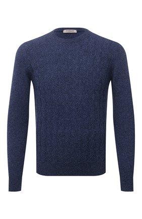 Мужской кашемировый свитер FIORONI синего цвета, арт. MK23020A1 | Фото 1 (Материал внешний: Шерсть, Кашемир; Длина (для топов): Стандартные; Рукава: Длинные; Мужское Кросс-КТ: Свитер-одежда; Принт: Без принта; Стили: Кэжуэл)
