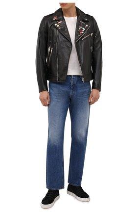 Мужская кожаная куртка DIESEL черного цвета, арт. A02719/0JCAZ | Фото 2