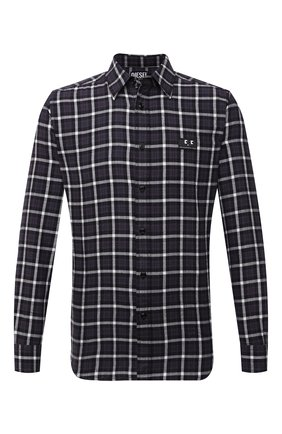 Мужская хлопковая рубашка DIESEL темно-фиолетового цвета, арт. A02687/0PBAV | Фото 1