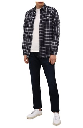 Мужская хлопковая рубашка DIESEL темно-фиолетового цвета, арт. A02687/0PBAV | Фото 2