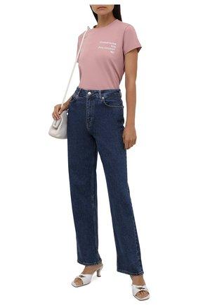Женская хлопковая футболка SEVEN LAB розового цвета, арт. T20-CYPN misty rose   Фото 2