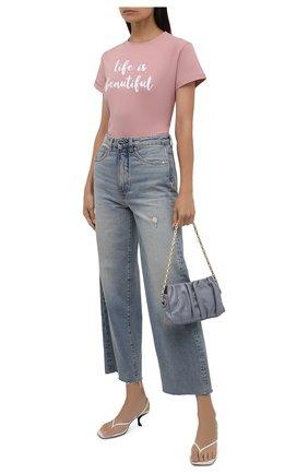 Женская хлопковая футболка SEVEN LAB розового цвета, арт. T20-LIB misty rose   Фото 2