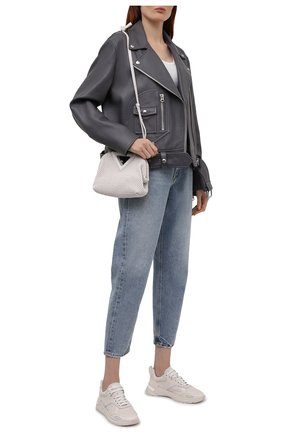 Женские кожаные кроссовки BOSS кремвого цвета, арт. 50455182 | Фото 2