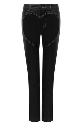 Женские кожаные брюки BURBERRY черного цвета, арт. 4568159 | Фото 1