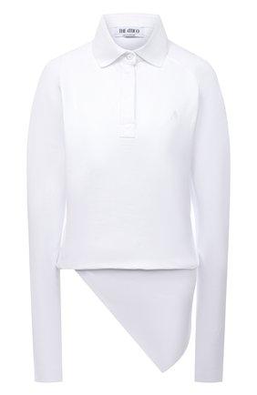 Женский хлопковый топ THE ATTICO белого цвета, арт. 213WCT72/C040 | Фото 1