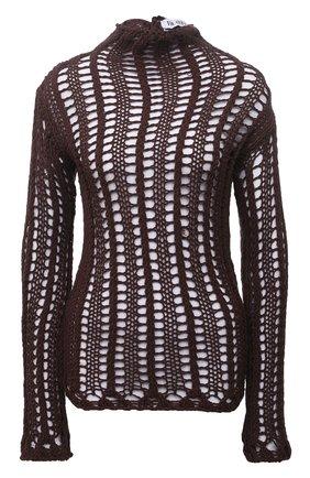 Женский хлопковый пуловер THE ATTICO коричневого цвета, арт. 213WCK22/C041 | Фото 1