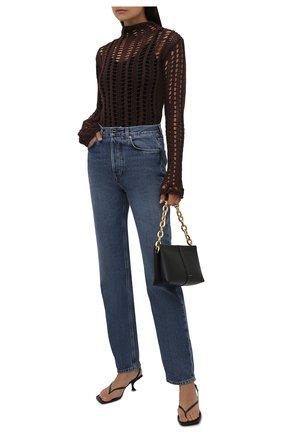 Женский хлопковый пуловер THE ATTICO коричневого цвета, арт. 213WCK22/C041 | Фото 2