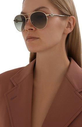 Женские солнцезащитные очки GIORGIO ARMANI хаки цвета, арт. AR6122B   Фото 2