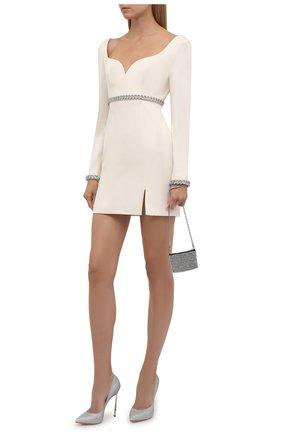Женские текстильные туфли jolly blade CASADEI серебряного цвета, арт. 1F410D125MCITYL9700   Фото 2