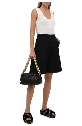 Женские текстильные сандалии BALMAIN черно-белого цвета, арт. WN1UH672/TJMF | Фото 2 (Материал внутренний: Текстиль; Материал внешний: Текстиль; Подошва: Платформа)